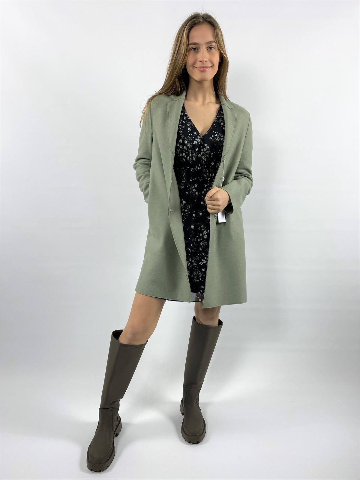 Cocoon coat pressed wool - A1301MLX - Harris Wharf