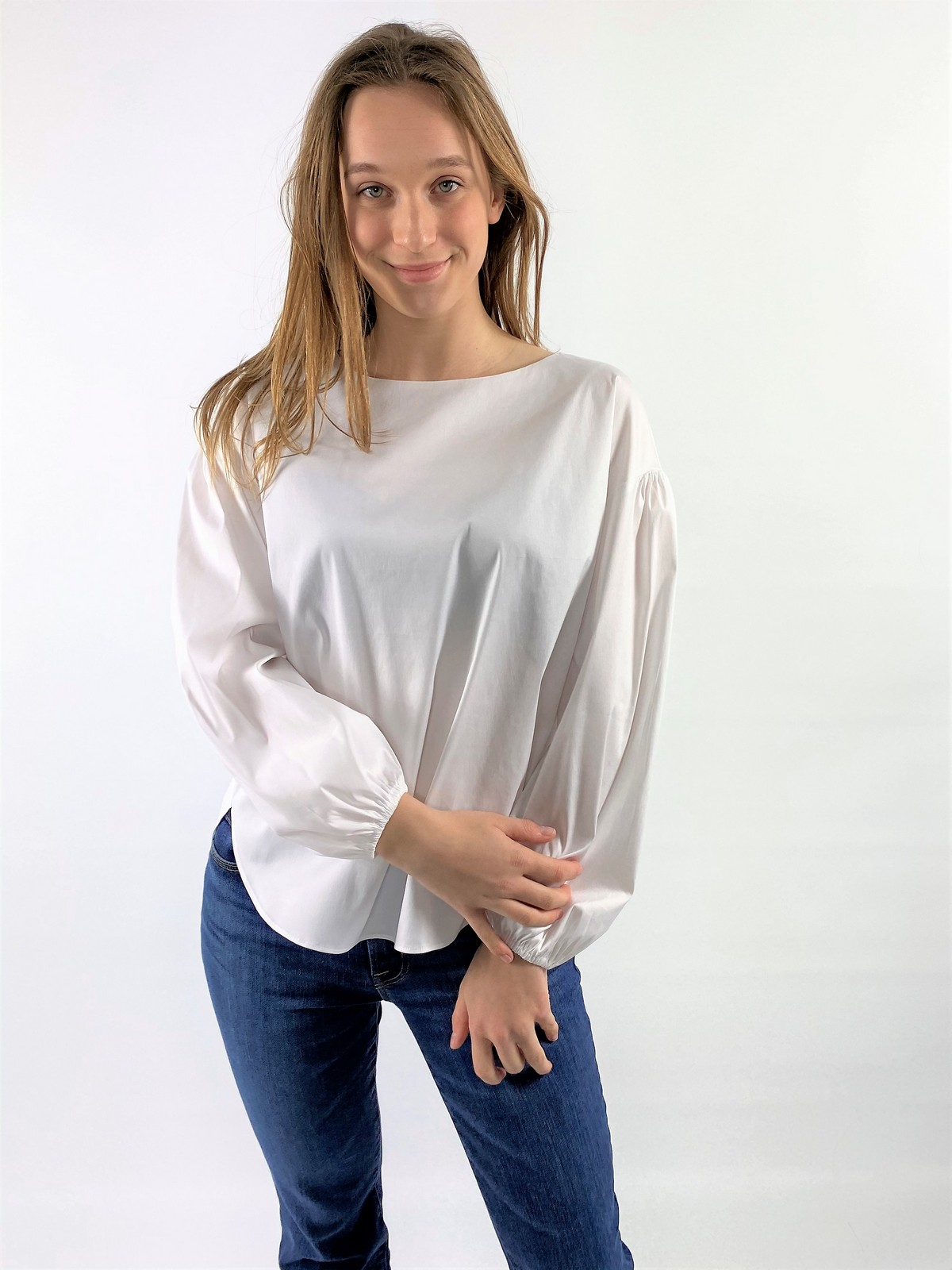 Shirtbloes pofmouwen - 21103 Cemala-5 - Hemisphere