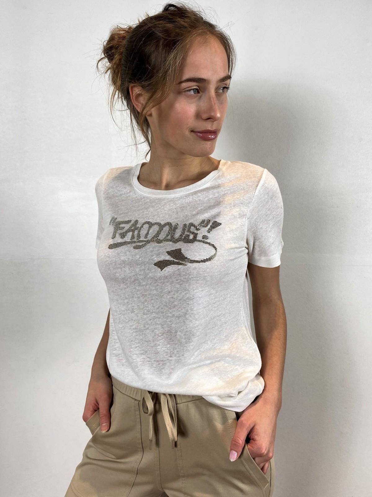 T-shirt famous linnen viscose - 26544 - Margittes