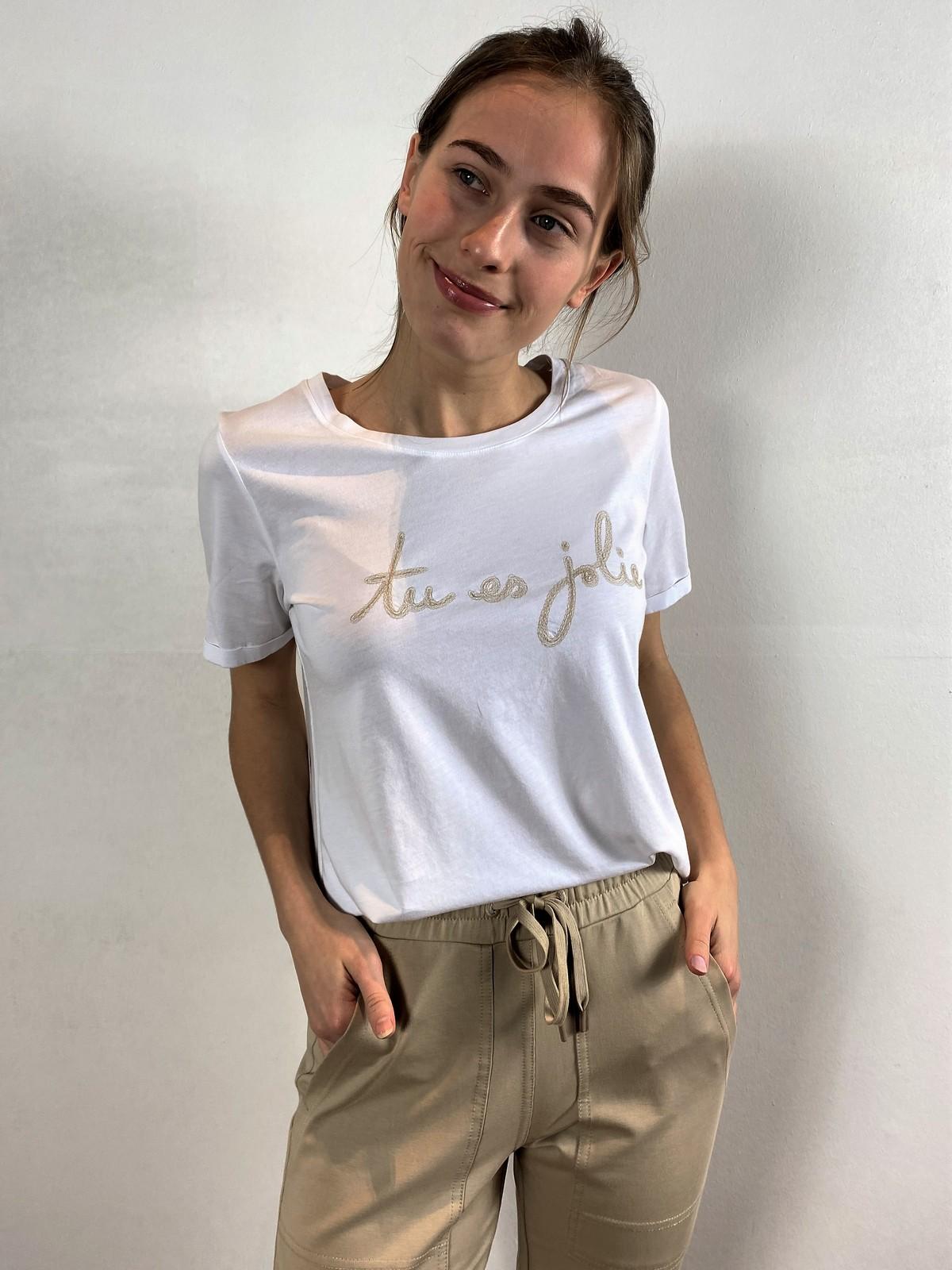 T-shirt tu es jolie - 26534 - Margittes