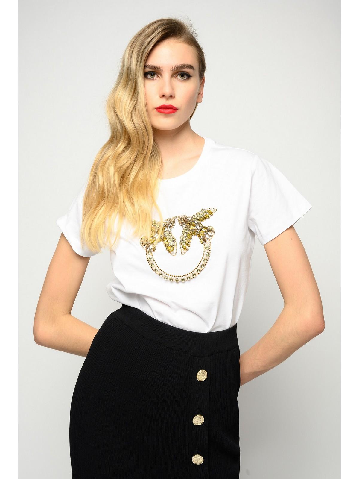 Pinko Quentin T-shirt jersey love birds