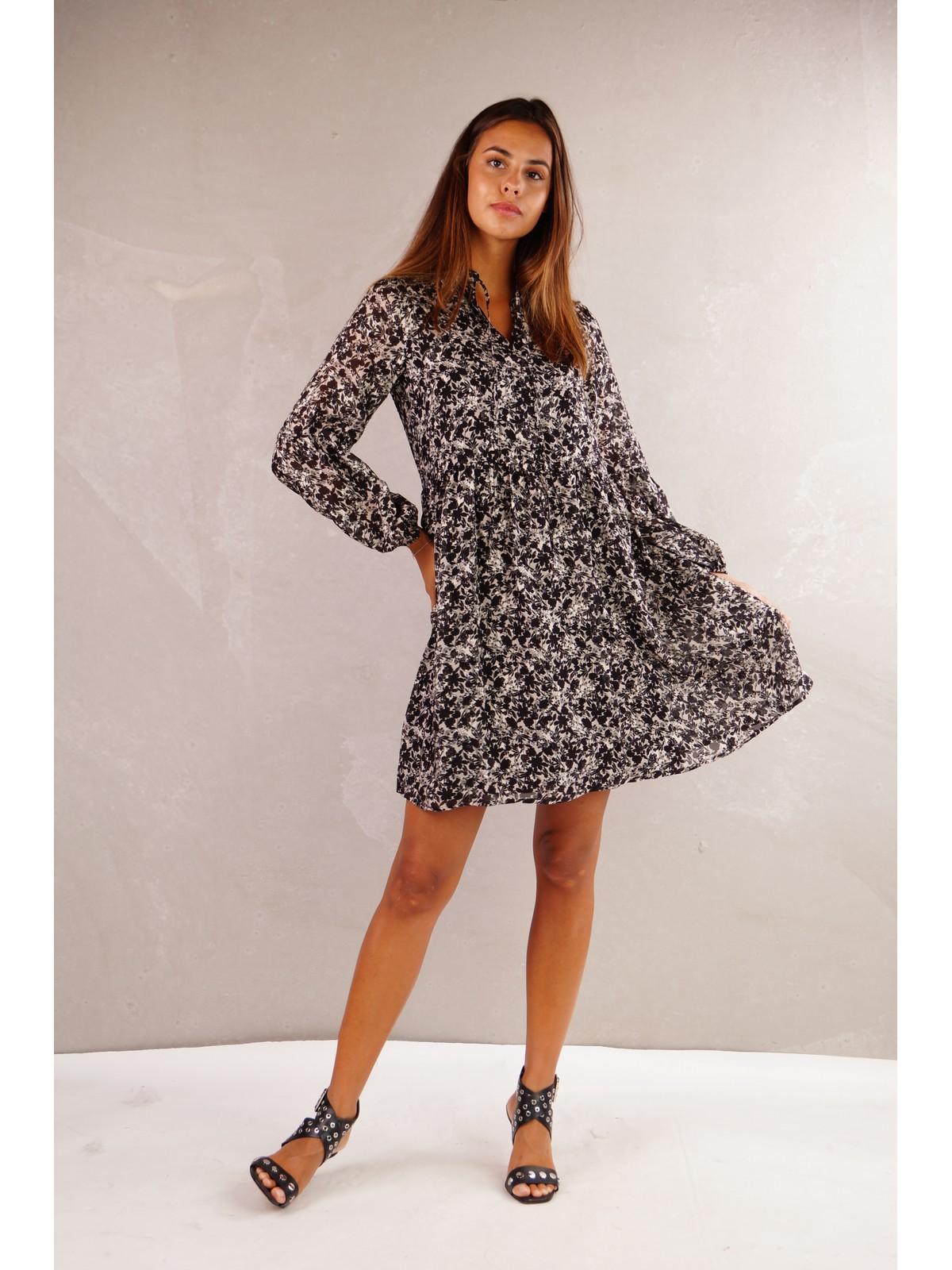 Justeve - Dress Anais - Owen - black beige