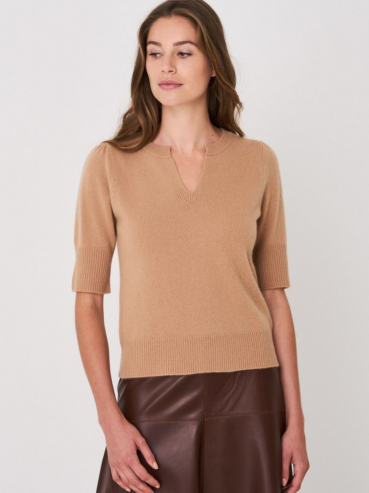 Repeat - 100439 - Pull V cashmere