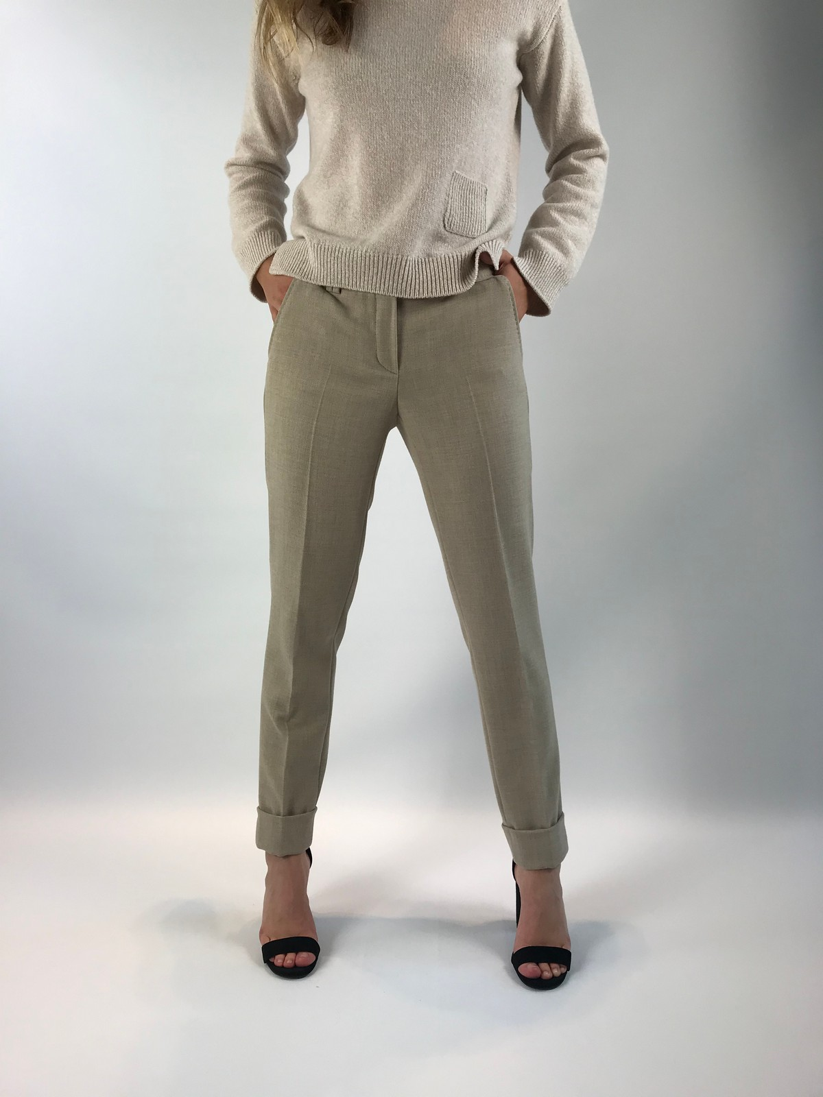 Seductive - Broek Allison - beige sabbia